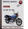 Thumbnail Suzuki GS 1000 1977-1986 Factory Service Repair Manual Download Pdf