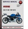 Thumbnail Suzuki GSX R 600 1997-2012 Factory Service Repair Manual Download Pdf