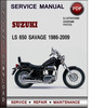 Thumbnail Suzuki LS 650 Savage 1986-2009 Factory Service Repair Manual Download Pdf