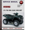 Thumbnail Suzuki LTA 700 King Quad 2005-2007 Factory Service Repair Manual Download Pdf