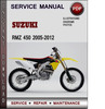 Thumbnail Suzuki RMZ 450 2005-2012 Factory Service Repair Manual Download Pdf