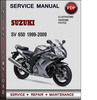 Thumbnail Suzuki SV 650 1999-2009 Factory Service Repair Manual Download Pdf