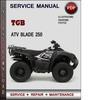 Thumbnail TGB ATV Blade 250 Factory Service Repair Manual Download Pdf