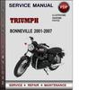 Thumbnail Triumph Bonneville 2001-2007 Factory Service Repair Manual Download Pdf