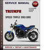 Thumbnail Triumph Speed Triple 2002-2005 Factory Service Repair Manual Download Pdf