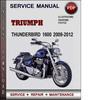 Thumbnail Triumph Thunderbird 1600 2009-2012 Factory Service Repair Manual Download Pdf