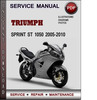 Thumbnail Triumph Sprint ST 1050 2005-2010 Factory Service Repair Manual Download Pdf