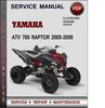Thumbnail Yamaha ATV 700 Raptor 2005-2009 Factory Service Repair Manual Download Pdf