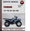 Thumbnail Yamaha ATV YFM 200 1983-1986 Factory Service Repair Manual Download Pdf