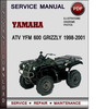 Thumbnail Yamaha ATV YFM 600 Grizzly 1998-2001 Factory Service Repair Manual Download Pdf