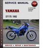 Thumbnail Yamaha DT175 1992 Factory Service Repair Manual Download Pdf