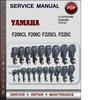 Thumbnail Yamaha Marine F200CL F200C F225CL F225C Factory Service Repair Manual Download PDF