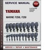 Thumbnail Yamaha Marine F250L F250 Factory Service Repair Manual Download PDF