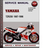 Thumbnail Yamaha TZR250 1987-1996 Factory Service Repair Manual Download PDF
