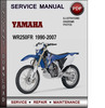 Thumbnail Yamaha WR250FR 1990-2007 Factory Service Repair Manual Download PDF
