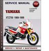 Thumbnail Yamaha XTZ750 1989-1999 Factory Service Repair Manual Download PDF