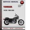 Thumbnail Yamaha XV250 1989-2000 Factory Service Repair Manual Download PDF