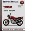 Thumbnail Yamaha YBR125 2000-2006 Factory Service Repair Manual Download PDF