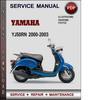 Thumbnail  Service Manual Yamaha YJ50RN 2000 2001 2002 2003 Factory Service Repair Manual Download PDF