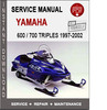 Thumbnail Yamaha 600 700 Triples Snowmobile Service Repair Manual PDF 1997-2002