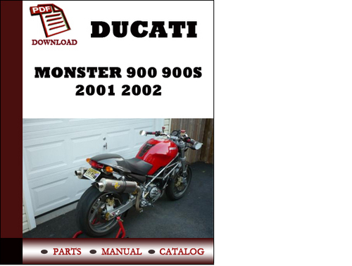 Ducati Monster 900 900s Parts Manual  Catalogue  2001 2002