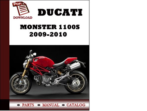pay for ducati monster 1100s parts manual (catalogue) 2009 2010 pdf  download ( english