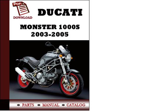 Ducati Monster 1000s Parts Manual  Catalogue  2003 2005