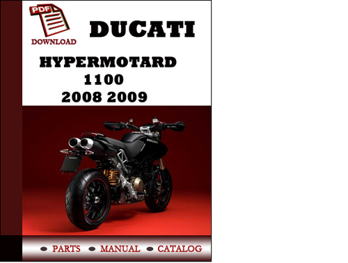 ducati hypermotard 1100 parts manual catalogue 2008 2009. Black Bedroom Furniture Sets. Home Design Ideas
