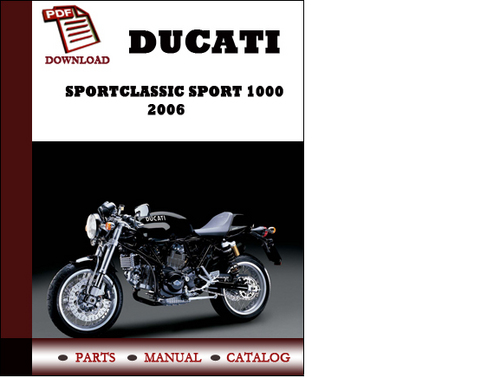 ducati sportclassic sport 1000 parts manual  catalogue