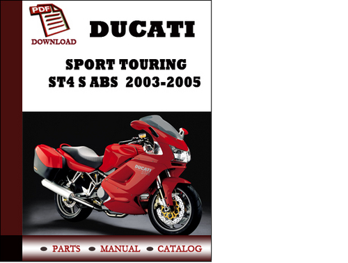 ducati sport touring st4 s abs parts manual catalogue 2003 2004 2 rh tradebit com
