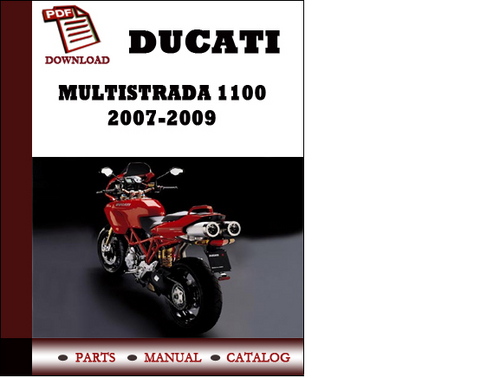 Ducati Multistrada 1100 Parts Manual  Catalogue  2007 2008