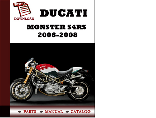 Ducati    Monster    S4RS    parts manual  catalogue  2006 2007