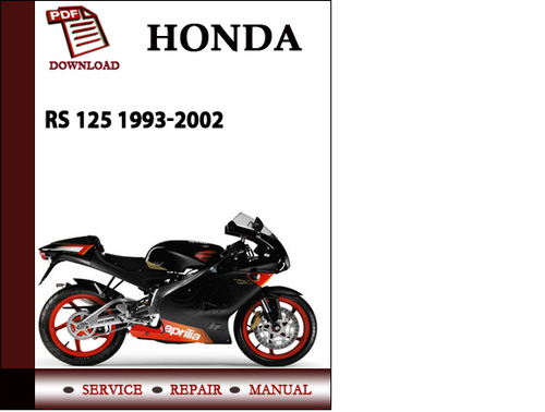 aprilia rs 125 1993 2002 workshop service repair manual pdf downloa rh tradebit com Honda RS 125 New Model 2004 Honda RS