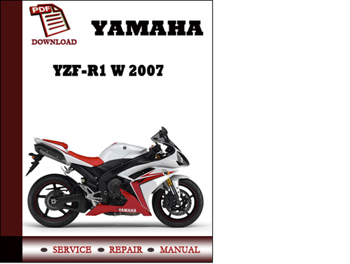 Pay for Yamaha YZF-R1 W 2007 Workshop Service Repair Manual Pdf Download