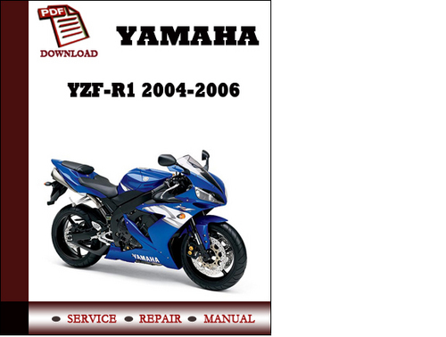 yamaha yzf r1 2004 2005 2006 workshop service repair manual pdf dow rh tradebit com 2015 r1 service manual pdf 2012 yamaha r1 service manual
