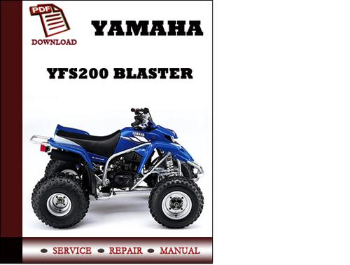 yamaha yfs200 blaster workshop service repair manual pdf download rh tradebit com 1994 Yamaha Blaster Yamaha Blaster Parts