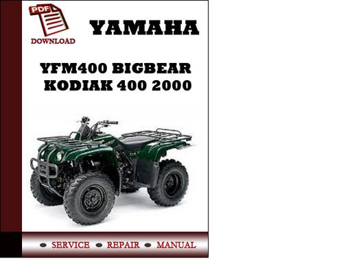 yamaha yfm400 bigbear kodiak 400 2000 workshop service repair manua rh tradebit com 1998 yamaha kodiak 400 service manual 2001 yamaha kodiak 400 service manual pdf