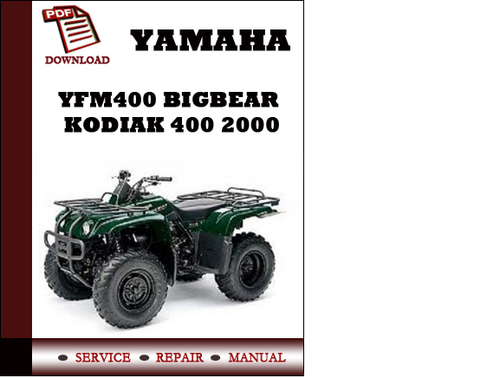 yamaha yfm400 bigbear kodiak 400 2000 workshop service repair manua rh tradebit com 2000 yamaha kodiak 400 4x4 owners manual Yamaha Kodiak 400 Ultramatic