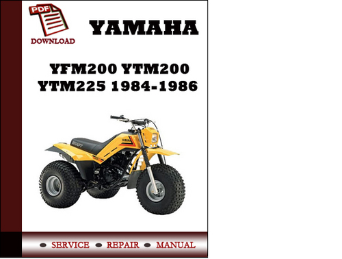 yamaha yfm200 ytm200 and ytm225 1984 1985 1986 workshop. Black Bedroom Furniture Sets. Home Design Ideas