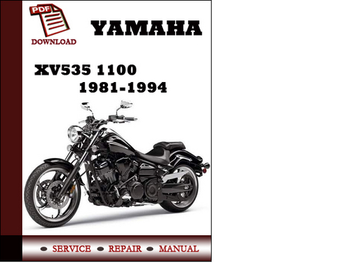 yamaha xv535 1100 1981 1994 workshop service repair manual. Black Bedroom Furniture Sets. Home Design Ideas