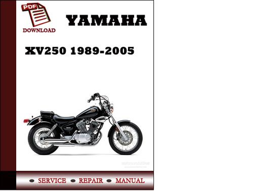 yamaha xv250 1989 2005 workshop service repair manual pdf download rh tradebit com Yamaha XV250 Bobber Yamaha Yzfr6jw