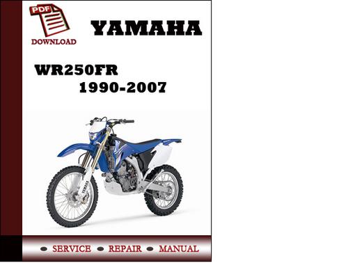 yamaha wr250fr 1990 2007 owners service manual pdf. Black Bedroom Furniture Sets. Home Design Ideas