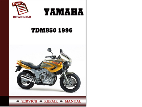 Yamaha tdm850 1996 workshop service repair manual pdf for Yamaha rx v1600 manual