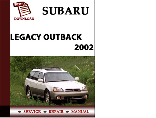 subaru outback service manual pdf