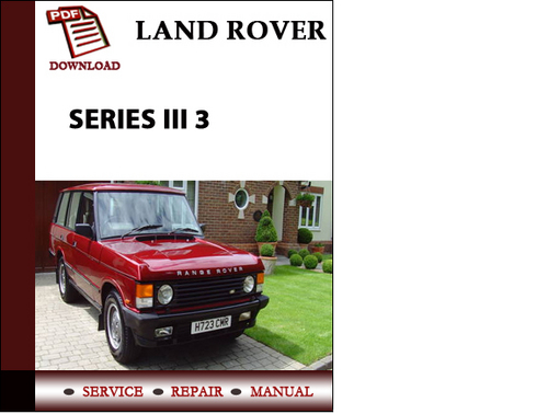 Range Rover Classic 1987 1988 1989 1990 1991 Workshop