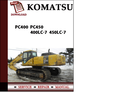 komatsu pc400 pc450 400lc 7 450lc 7 workshop service
