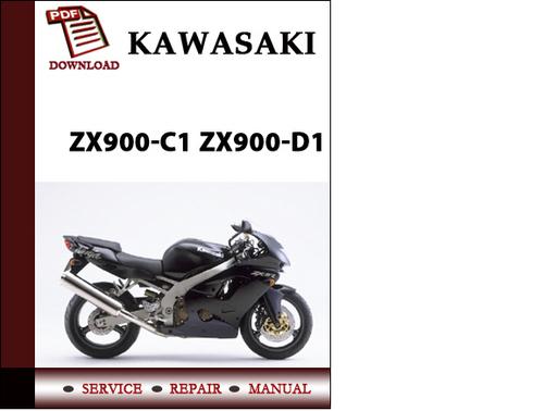 Pay for Kawasaki ZX900-C1 ZX900-D1 Workshop Service Repair Manual Pdf Download