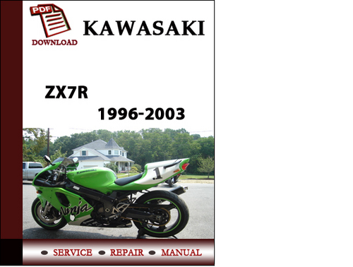 kawasaki zx7r 1996 2003 password pdf motocd workshop service rep rh tradebit com kawasaki zx7r service manual free download Kawasaki Green