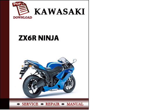 kawasaki ninja zx 6r 2000 2002 repair service manual pdf