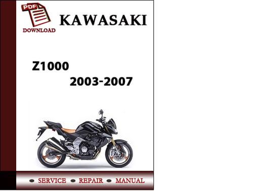 Kawasaki z1000 abs 2010 2013 workshop service manual download m.